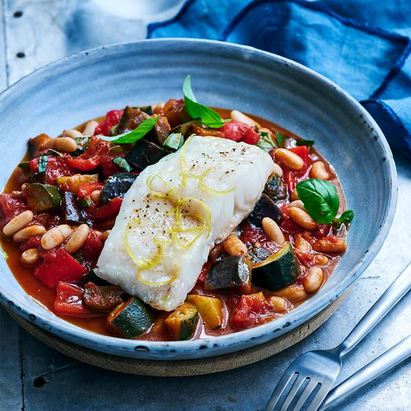 Photo of Shellie's oven baked fish with ratatouille and beans by WW