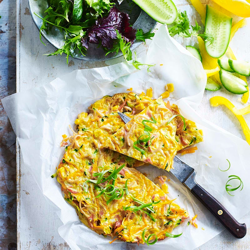 Photo of Ham and veggie noodle omelettes by WW