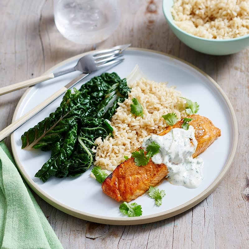 Photo of Tandoori salmon with cucumber raita by WW