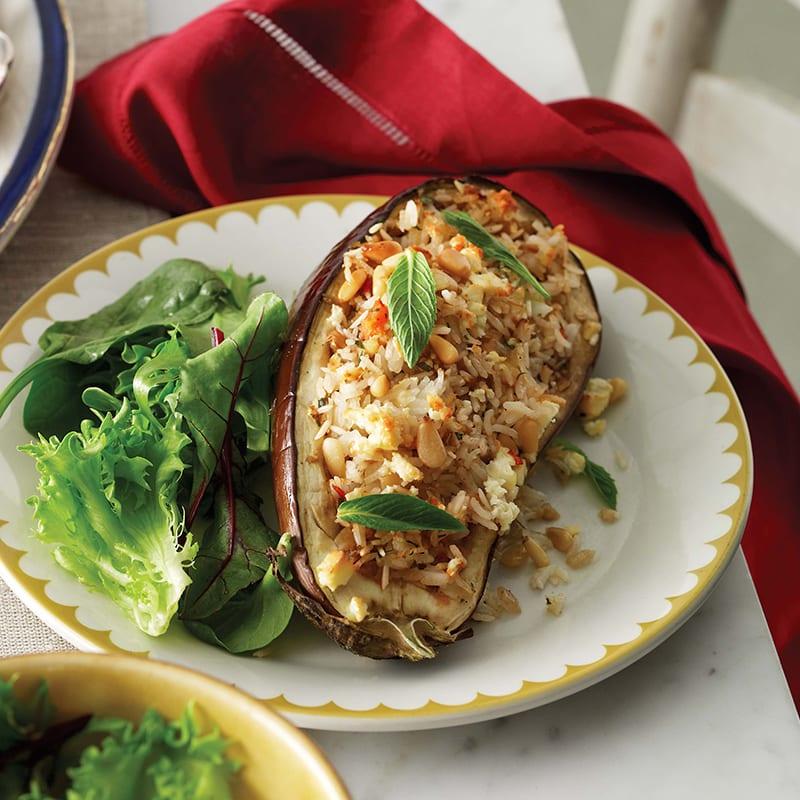 Photo of Rice and feta stuffed eggplant by WW