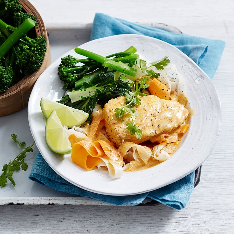Photo of Red curry fish with noodles by WW