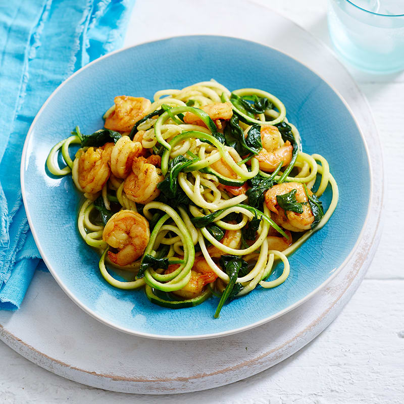 Photo of Curried prawns with zoodles and spinach by WW