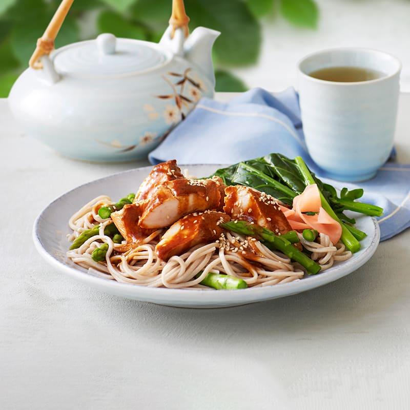 Photo of Japanese-style chicken with soba noodles by WW