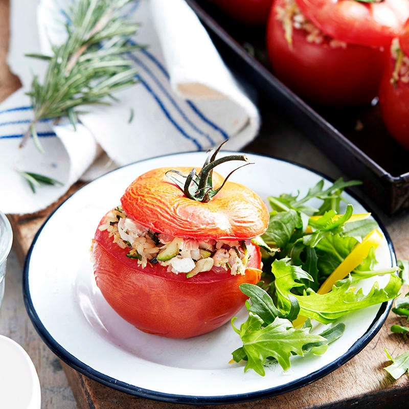 Photo of Baked tomatoes with tuna and rice filling by WW