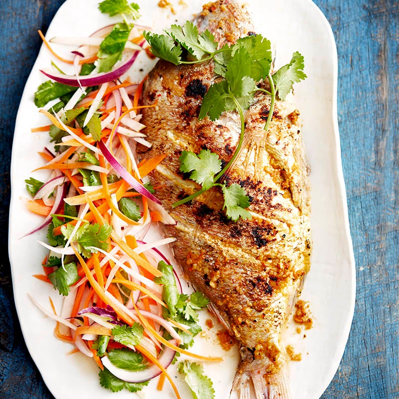 Photo of Moroccan-spiced snapper with shredded salad by WW