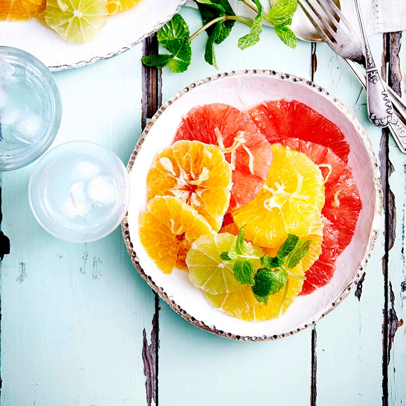 Photo of Citrus fruit salad with ginger and honey syrup by WW