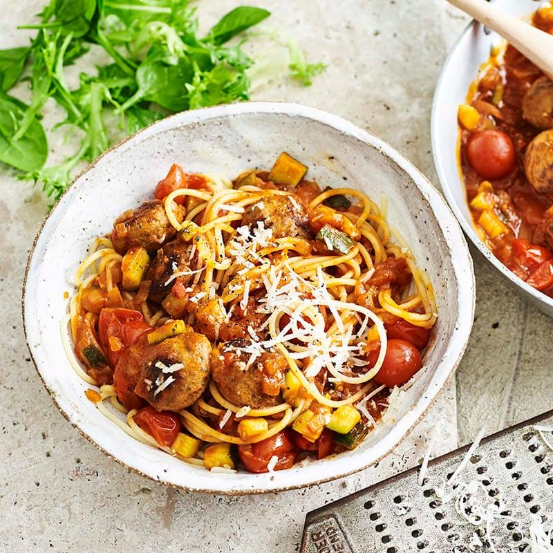 Photo of Italian meatballs with spaghetti by WW