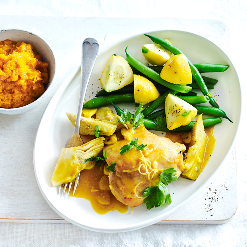 Photo of Braised chicken with lemon and artichokes by WW