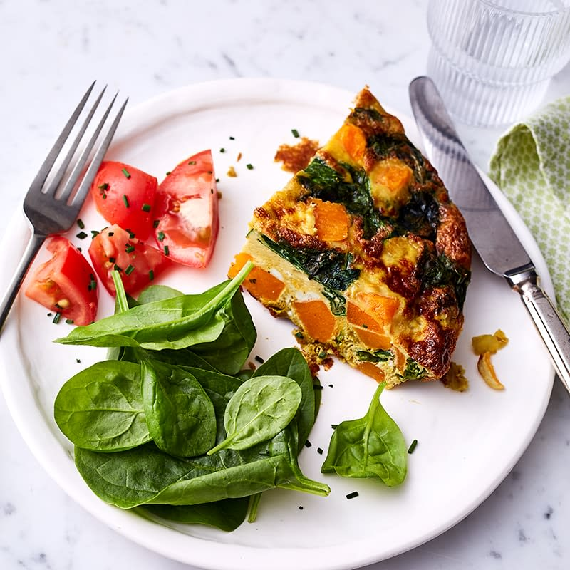 Photo of Pumpkin and spinach frittata by WW