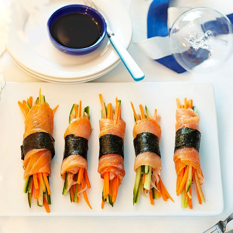 Photo of Salmon, cucumber and seaweed rolls by WW