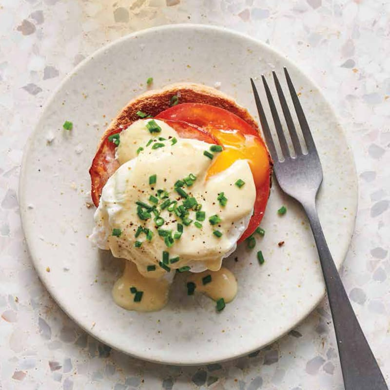 Photo of Poached eggs with hollandaise and bacon by WW