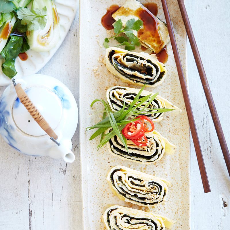 Photo of Nori omelette with oyster sauce and sesame sprinkle by WW