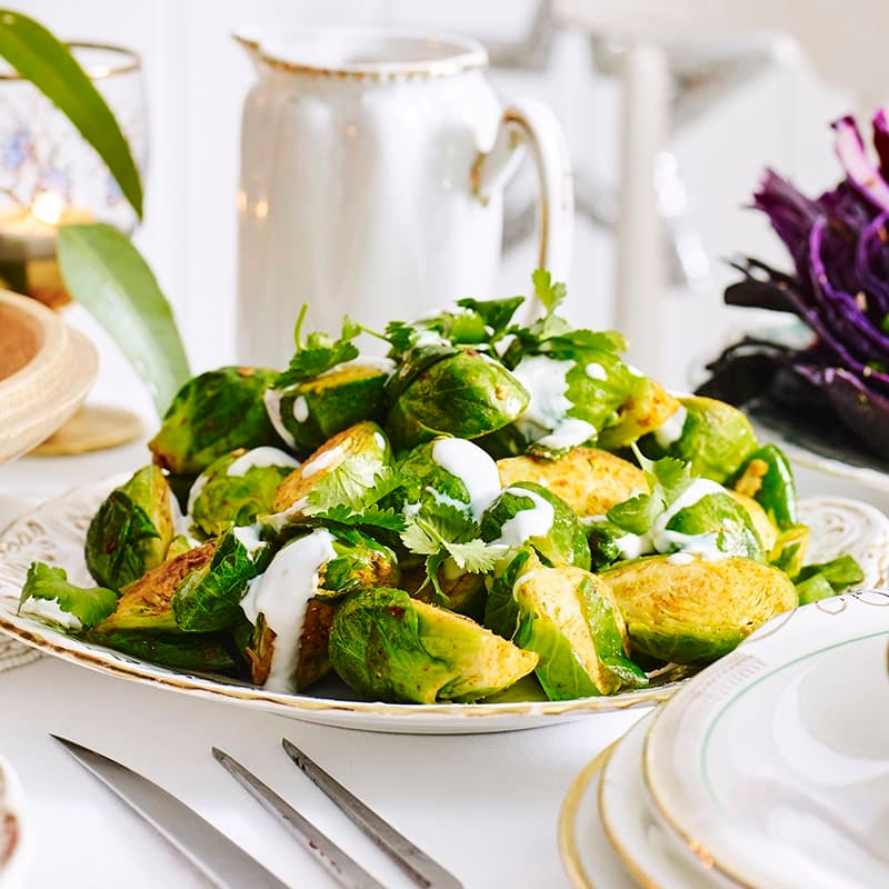 Photo of Spiced Brussels sprouts with yoghurt drizzle by WW
