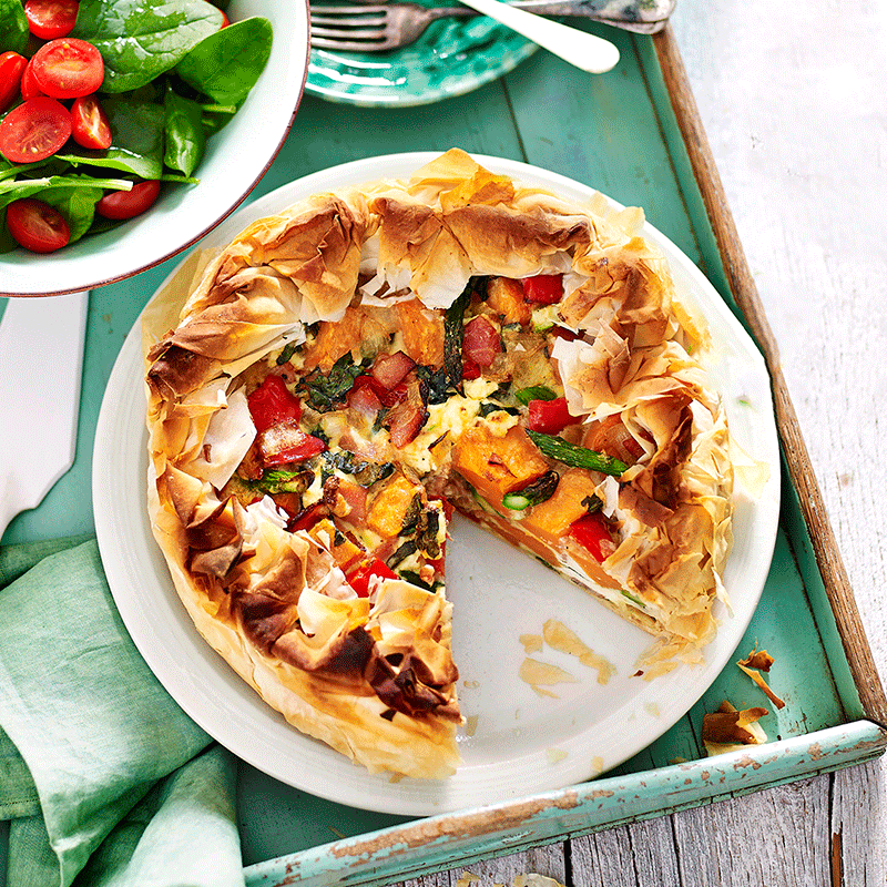 Photo of Deep dish bacon and vegetable tart by WW