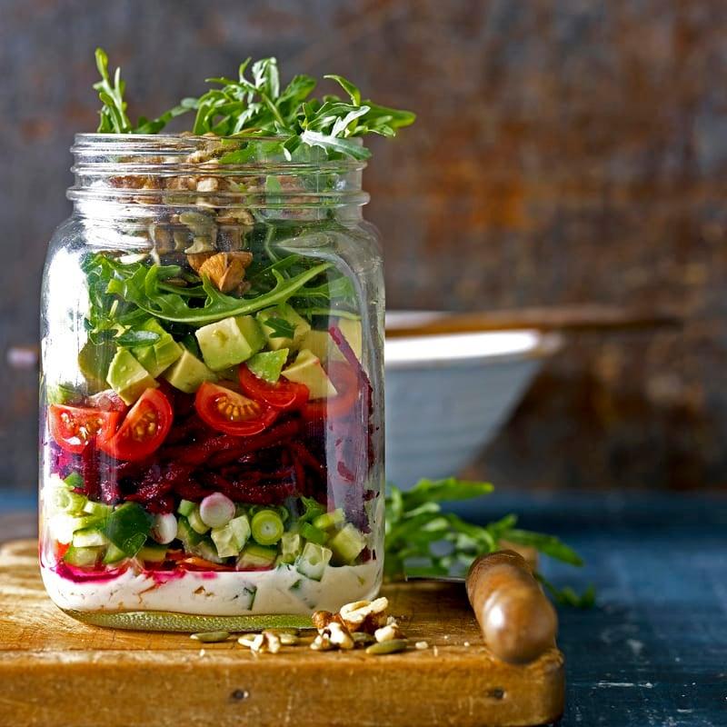 Photo of Raw vegan salad jar by WW