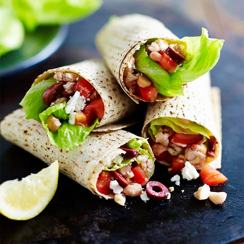 Photo of Smashed bean, tomato and feta wrap by WW