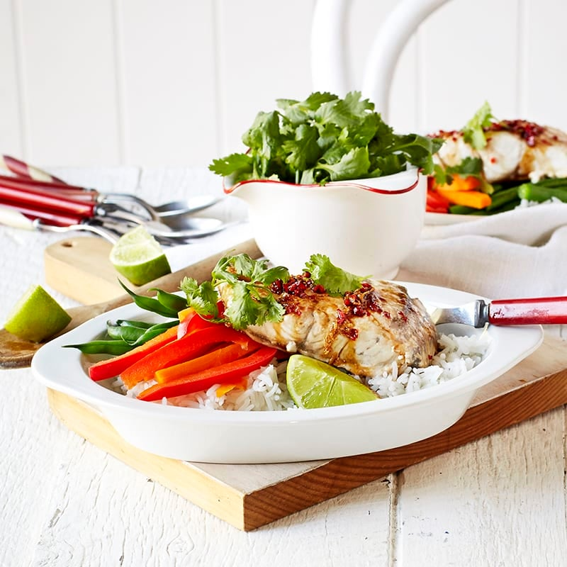 Photo of Baked fish with Asian dressing by WW