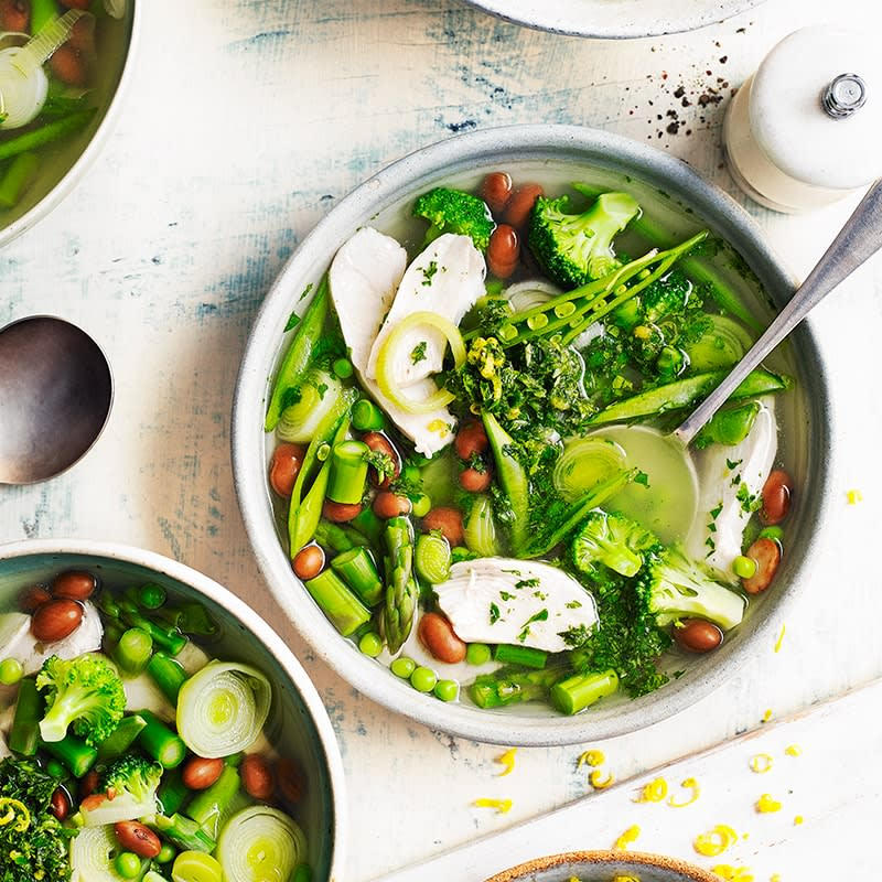 Photo of Chicken, borlotti bean and vegetable soup with pistou by WW