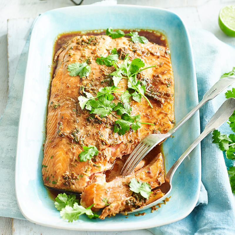Photo of Asian-style slow-cooked side of salmon by WW