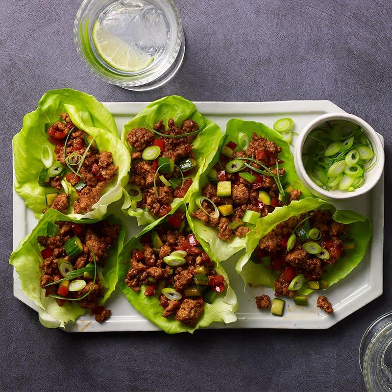 Photo of Spicy pork and veggie lettuce wraps by WW