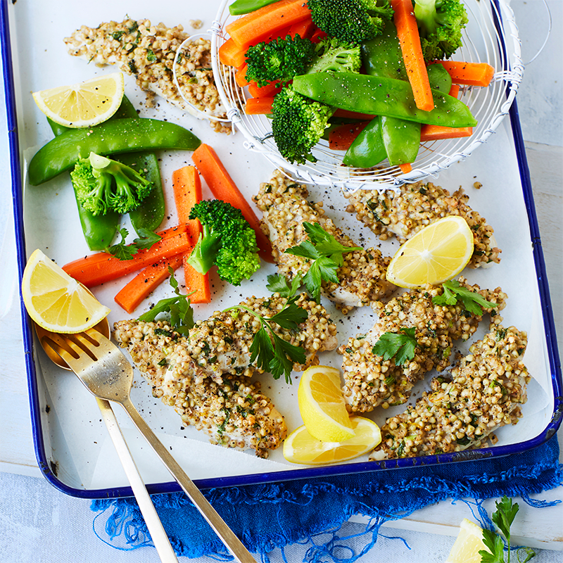 Photo of Chicken with buckwheat and herb crust by WW