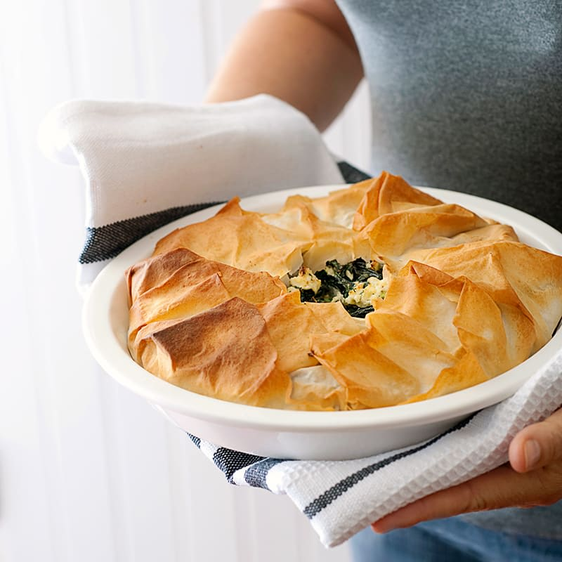 Photo of Greek silverbeet and feta pie by WW