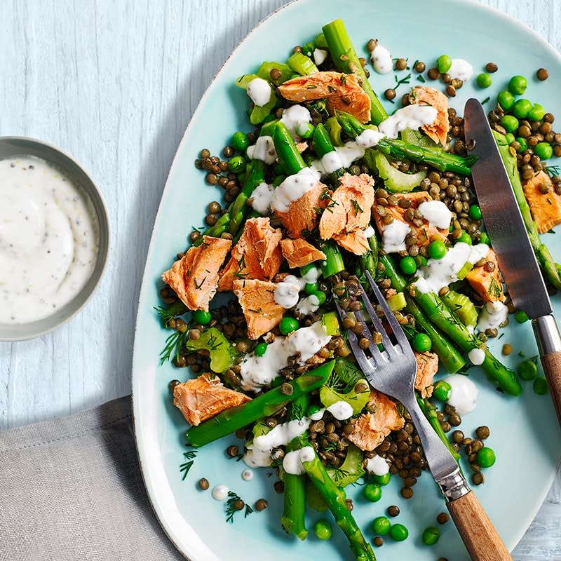 Photo of Salmon, asparagus and lentil salad by WW