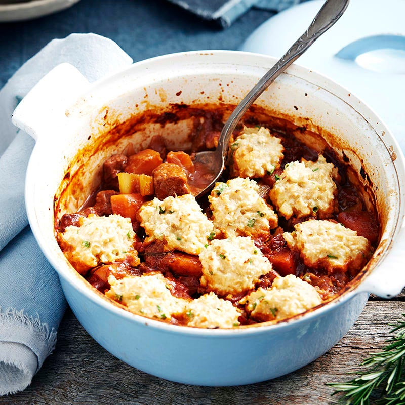 Photo of Lamb and red wine casserole with cauliflower dumplings by WW