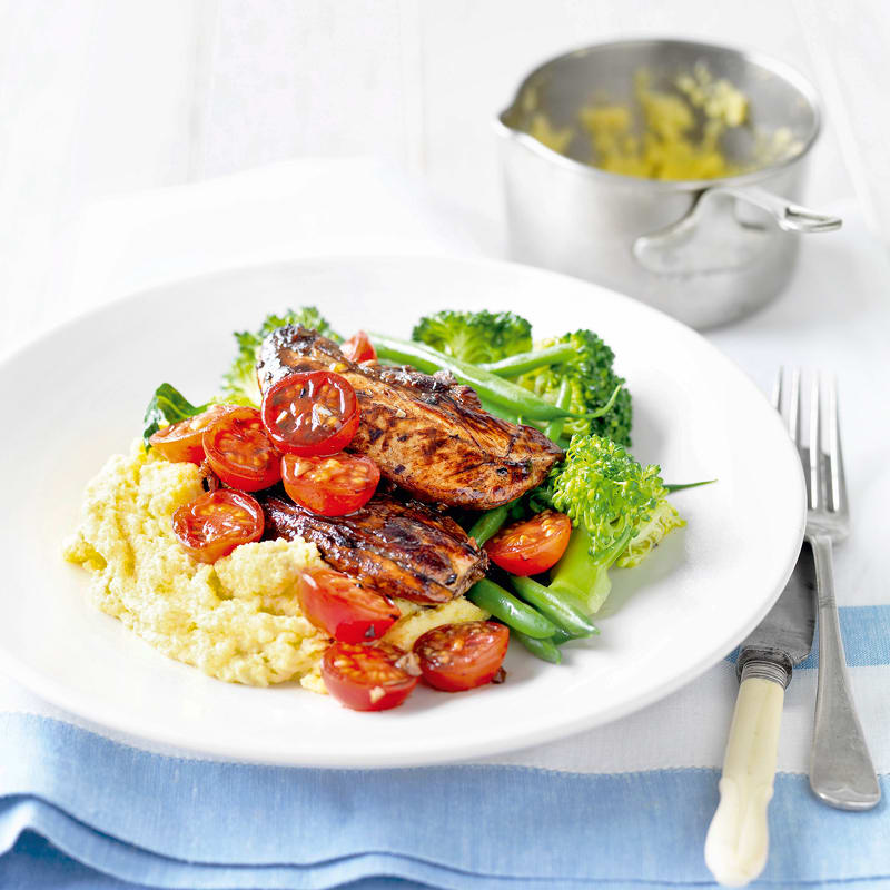 Photo of Balsamic chicken with polenta by WW