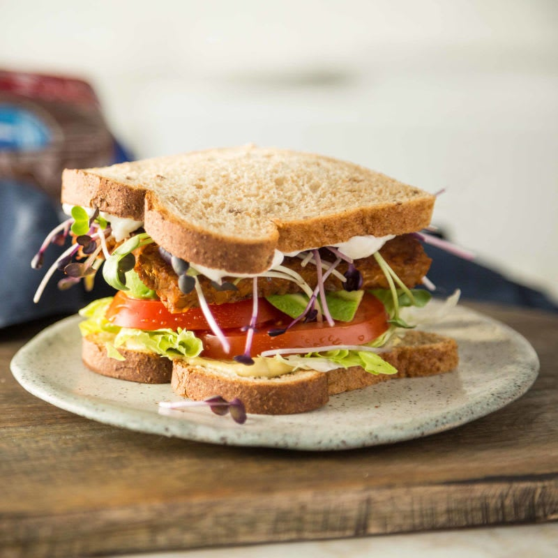 Photo of T.L.T (tempeh lettuce tomato) with avocado by WW