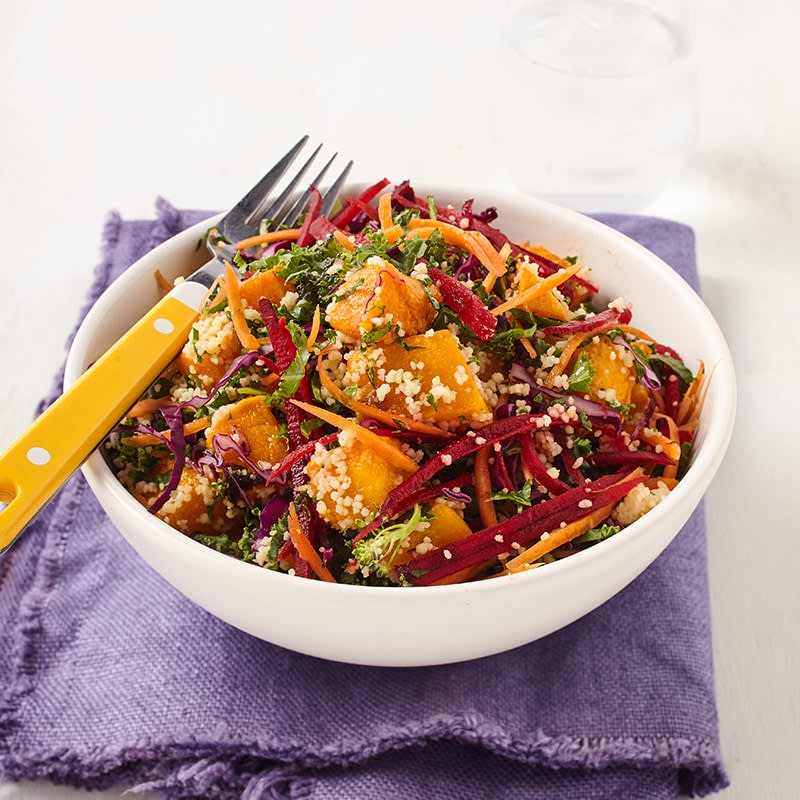 Photo of Roasted pumpkin, kale and couscous salad by WW
