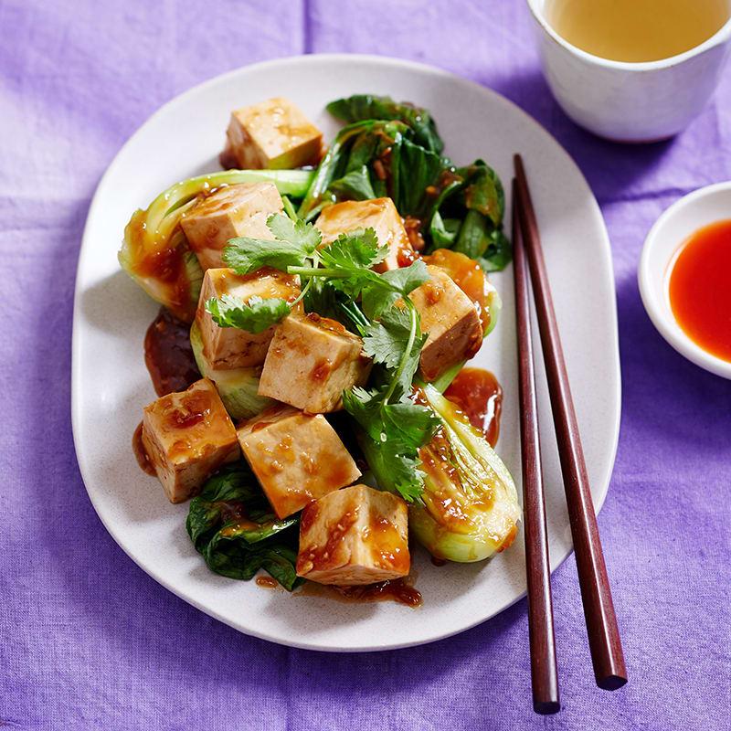 Photo of Sticky tofu with bok choy by WW