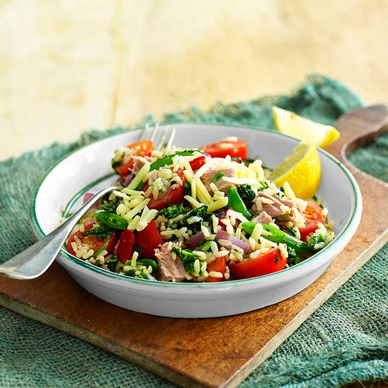 Photo of Spinach and tuna rice salad by WW