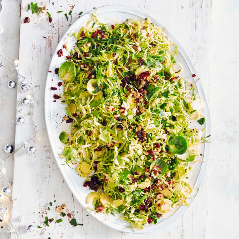 Photo of Sprout slaw with dried berries, nuts and spiced orange dressing by WW