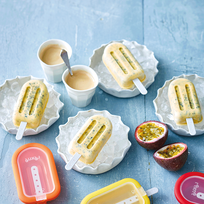 Photo of Passionfruit yoghurt popsicles by WW