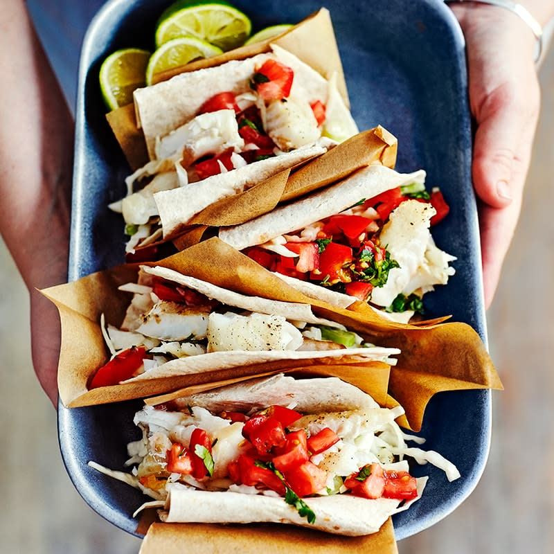 Photo of Fish tacos with salsa by WW