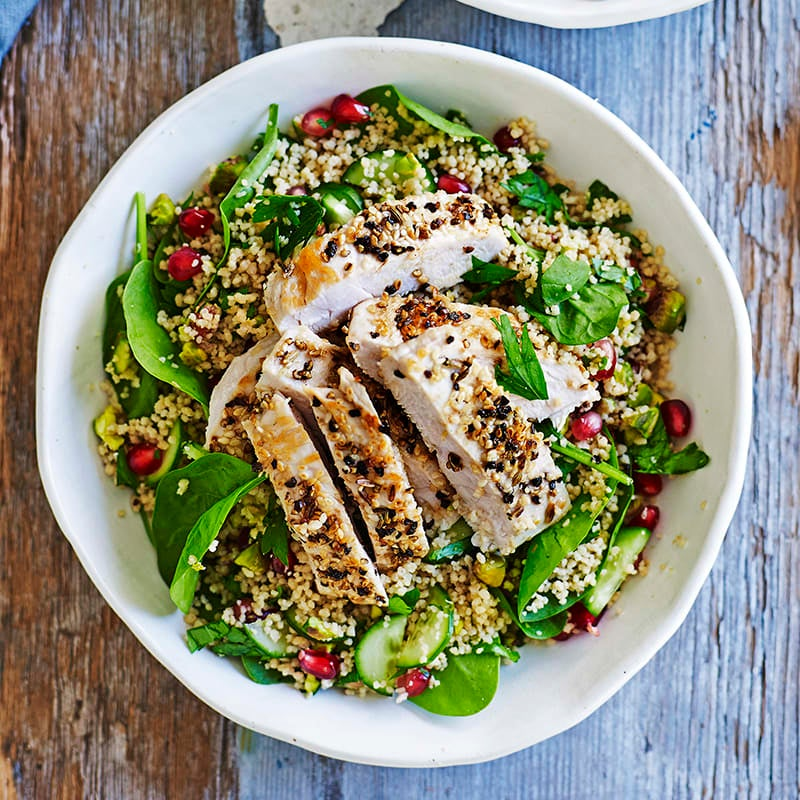 Photo of Spiced grilled chicken with pistachio and pomegranate couscous by WW