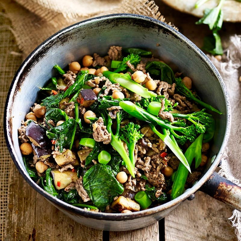 Photo of Spicy beef with eggplant and chickpeas by WW