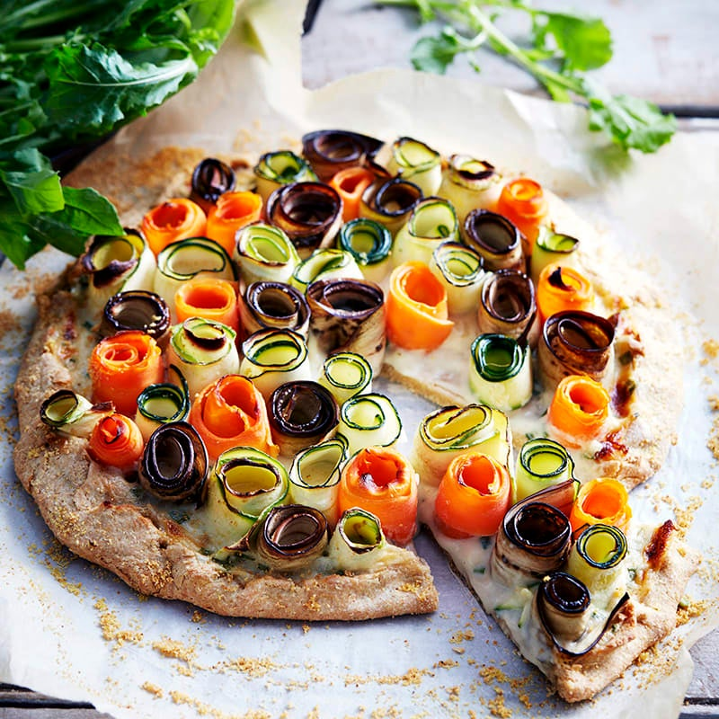 Photo of Free-form wholemeal vegetable spiral pie by WW