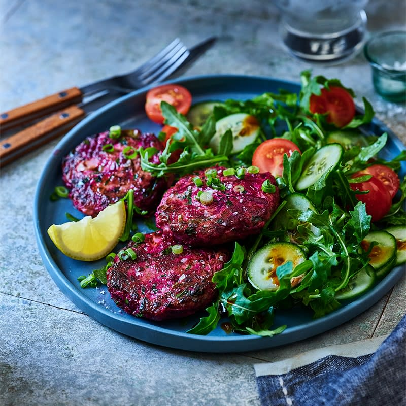 Photo of Turkey beetroot patties with salad by WW