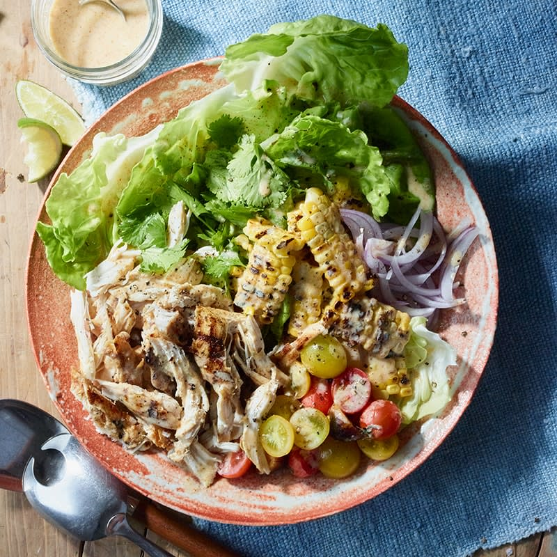 Photo of Chicken salad with yoghurt and lime dressing by WW