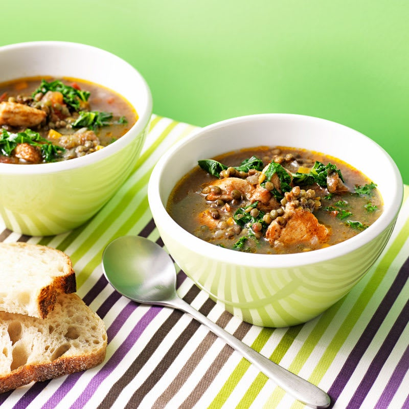 Photo of Chicken, lentil and kale soup by WW