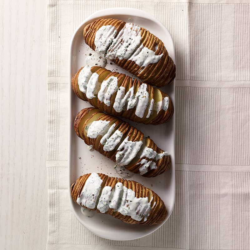 Photo of Air fryer hasselback potatoes with ranch by WW