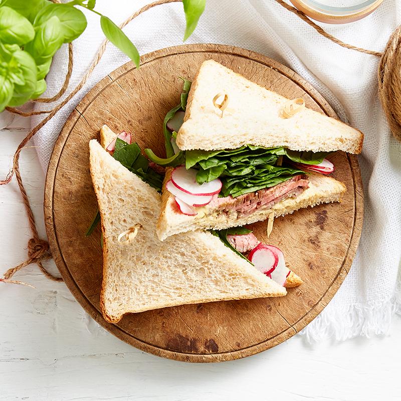 Photo of Hot rare roast beef sandwich by WW
