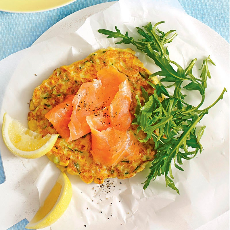 Photo of Corn and smoked salmon fritters by WW