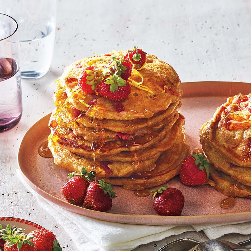 Photo of Strawberry and lemon pancakes by WW