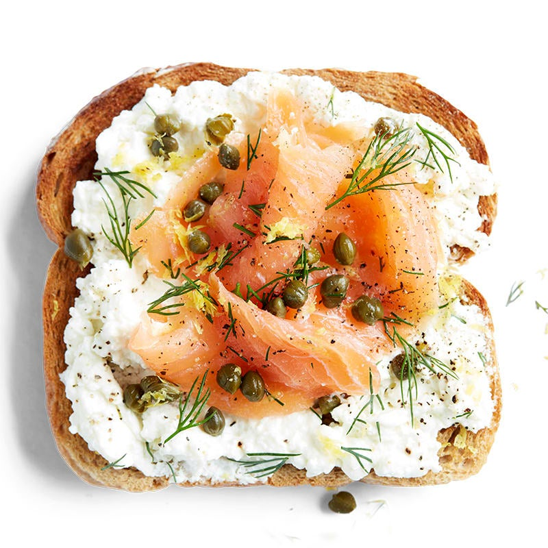 Photo of Dill salmon and cottage cheese toast topper by WW