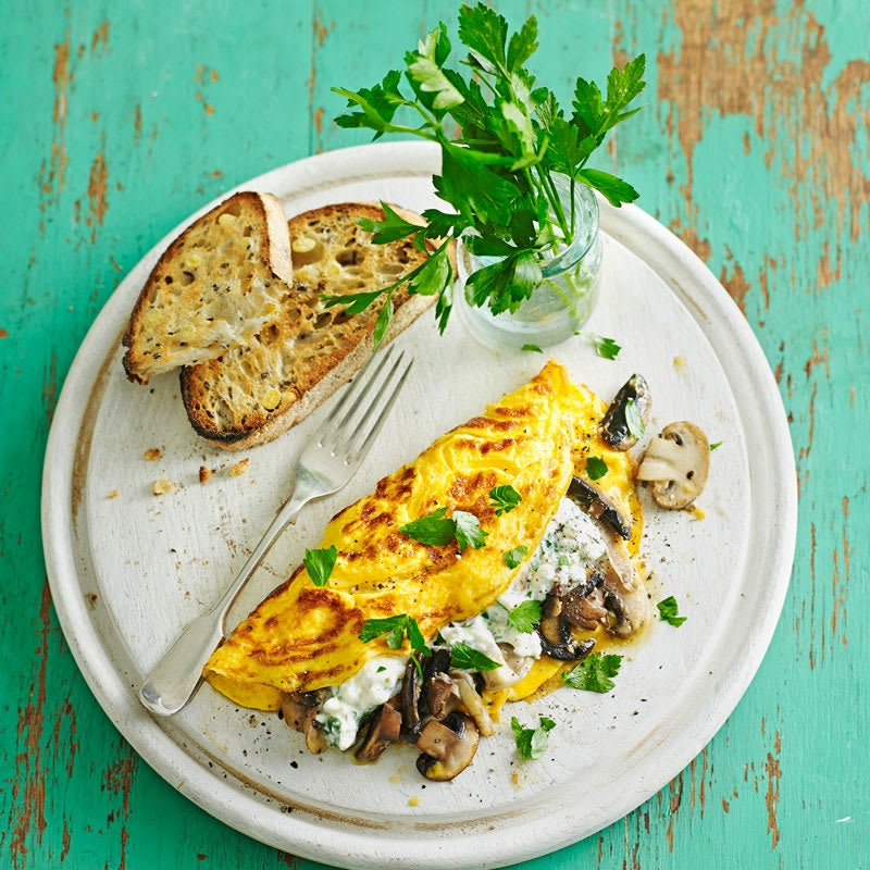 Photo of Mushroom and parsley cheese omelettes by WW