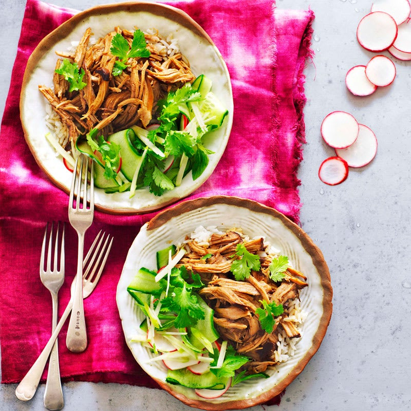 Photo of Sticky pork with pickled apple salad by WW