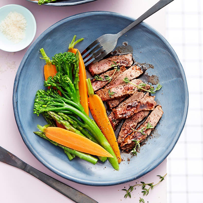 Photo of Barbecued flank steak with braised vegetables by WW